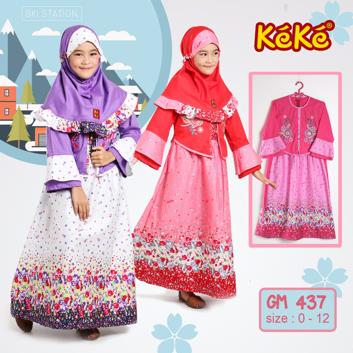 Baju Muslim KeKe Anak Perempuan